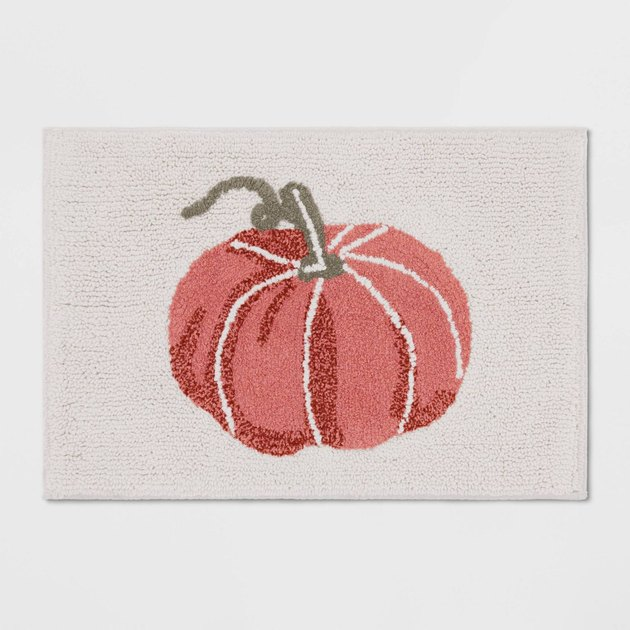 pumpkin off-white bath mat