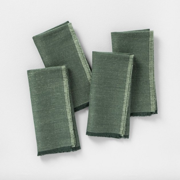 green napkin set