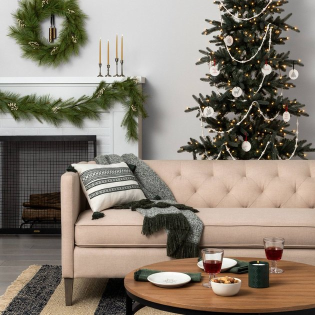 minimal holiday living room decor from Target