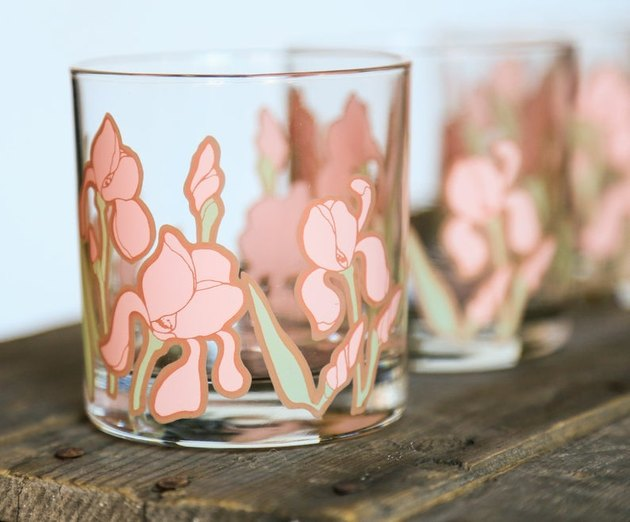 '80s Floral Whiskey Glasses, $89