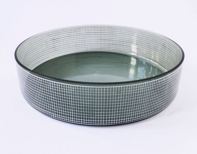 Vintage Glass Bowl With Grid Motif, $48.52