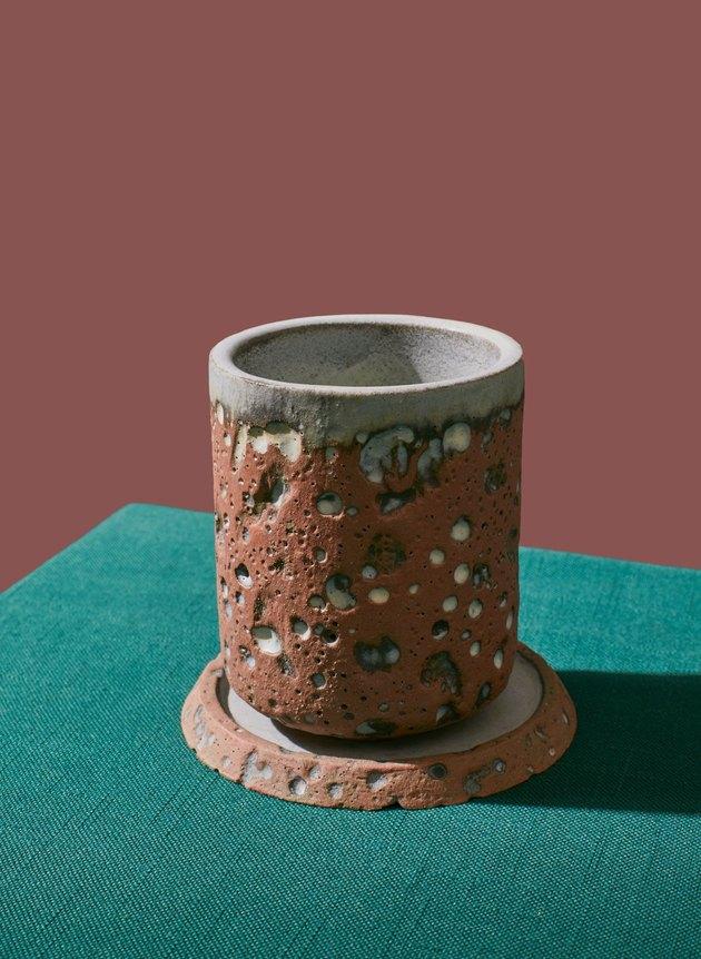 ceramic cup and coaster