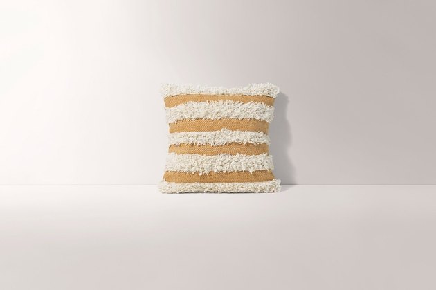 white and yelow pillow cover