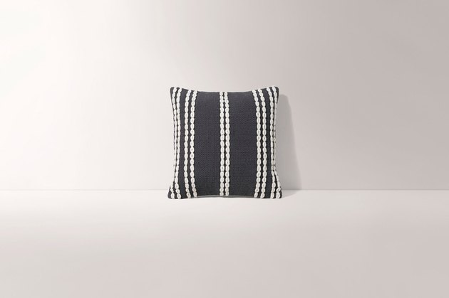 grey striped pillow cover