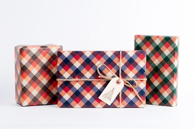 Norman's Printery Lumberjack Plaid Wrapping Paper (12 sheets; 4 of each design), $16