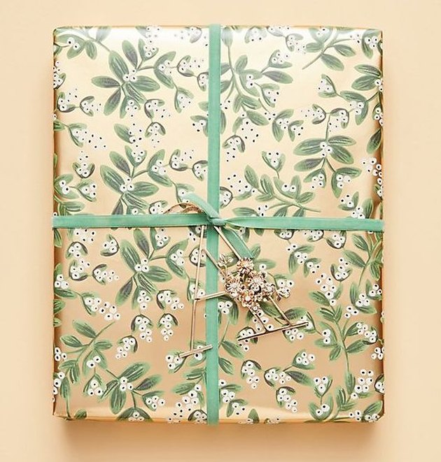 Rifle Paper Co. Mistletoe Wrapping Roll, $10