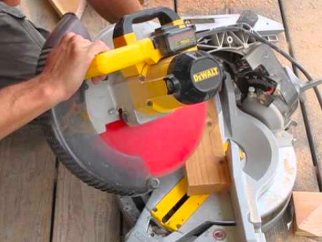 A compound miter saw.