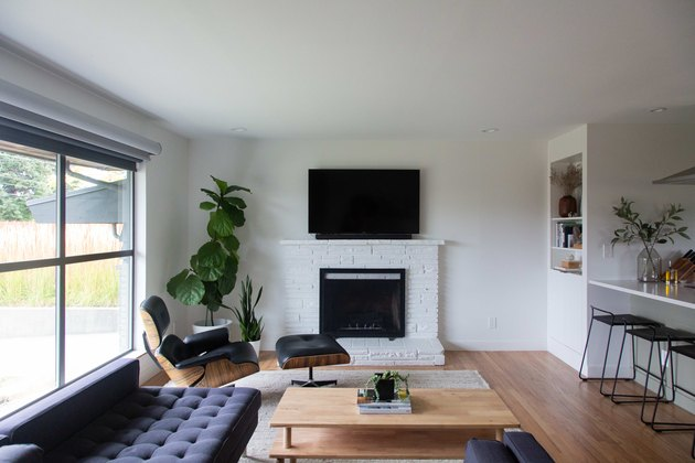 The living room with Eames lounge.