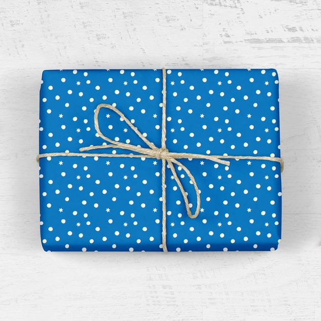 Mellowworks Modern Hanukkah Wrapping Paper (2 sheets), $11
