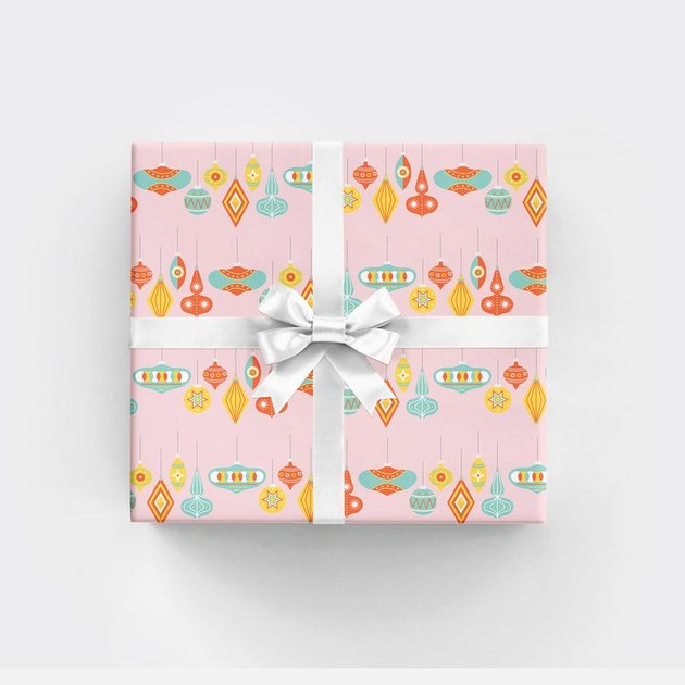 RevelAndCo Palm Springs Ornament Wrapping Paper (3 sheets), $15