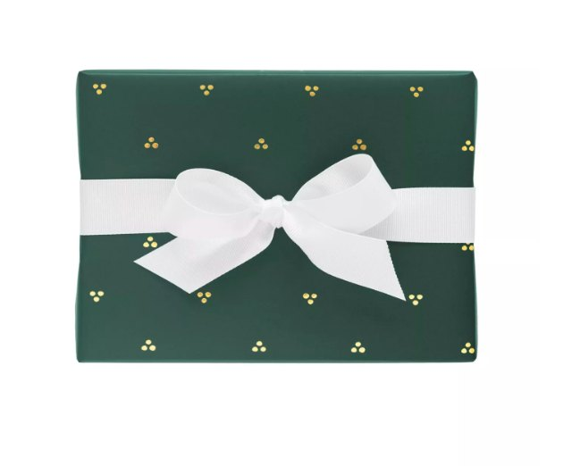 Sugar Paper Green With Dainty Gold Single Roll, $6