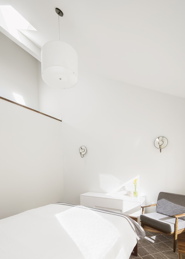 bedroom with white walls