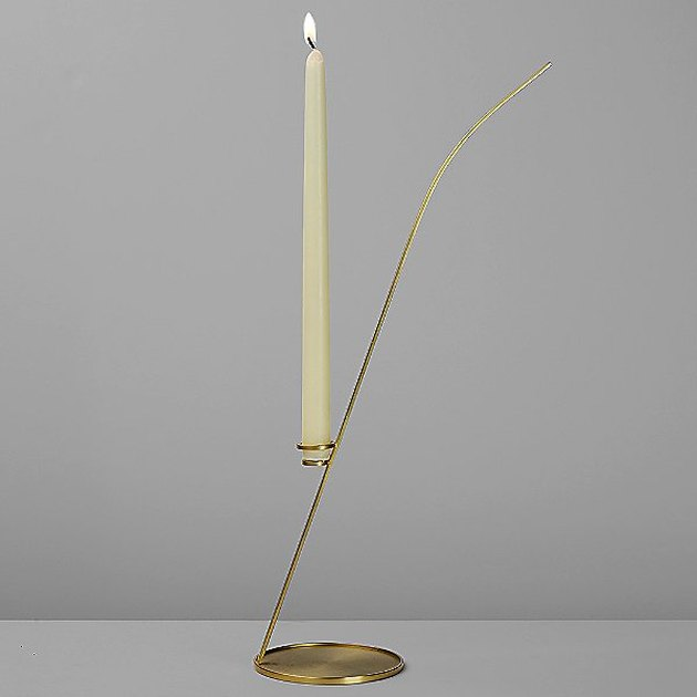 candleholder with white candle