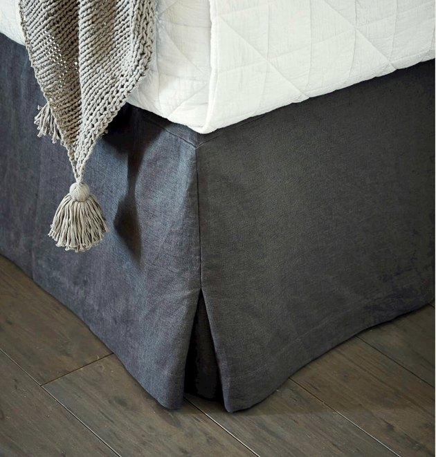 Linen bed skirt.