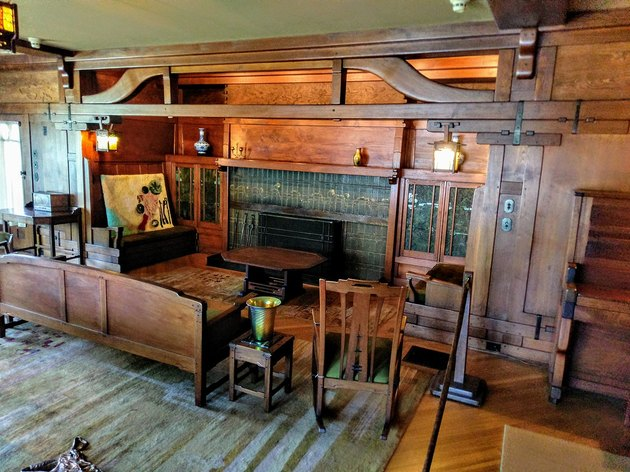 interior photograph of the Gamble House