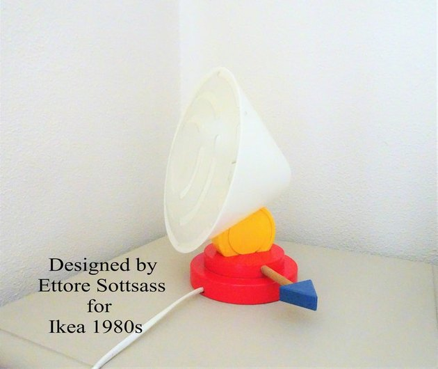 1980s Ettore Sottsass for IKEA Wall or Desk Lamp, $165.32