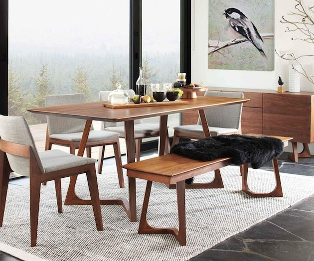 Scandinavian Designs walnut dining table
