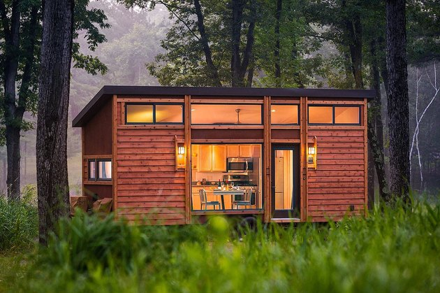 tiny house in nature