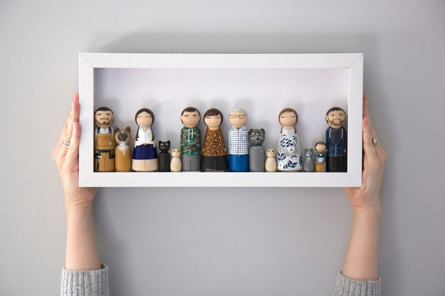personalized peg doll family