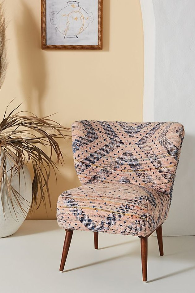 petite accent chair near plant