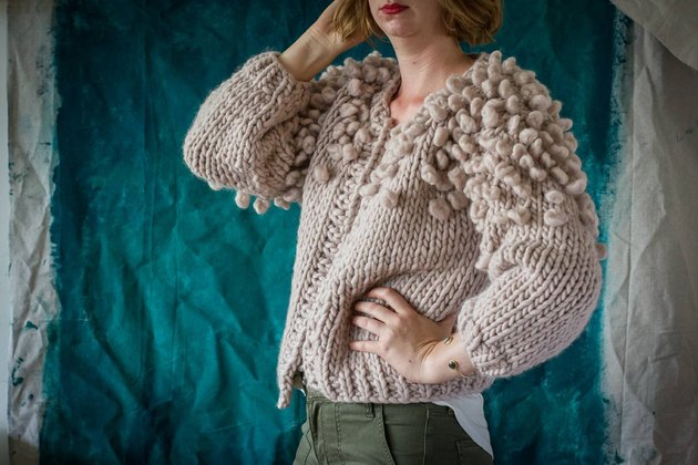 Relaxed modern handknit sweater