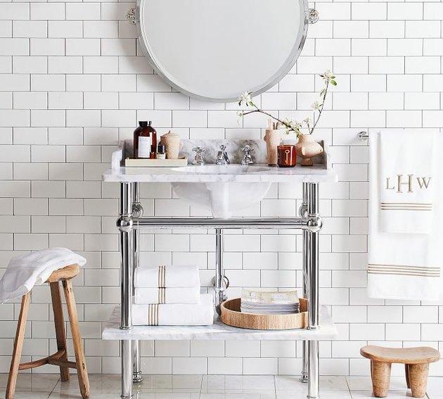 single console bathroom sink
