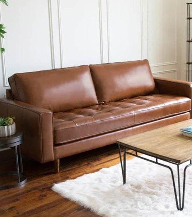 overstock leather sofa