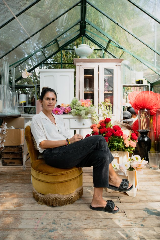 Manuela Sosa in her greenhouse