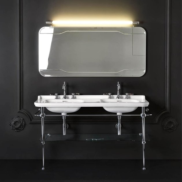 double console bathroom sink