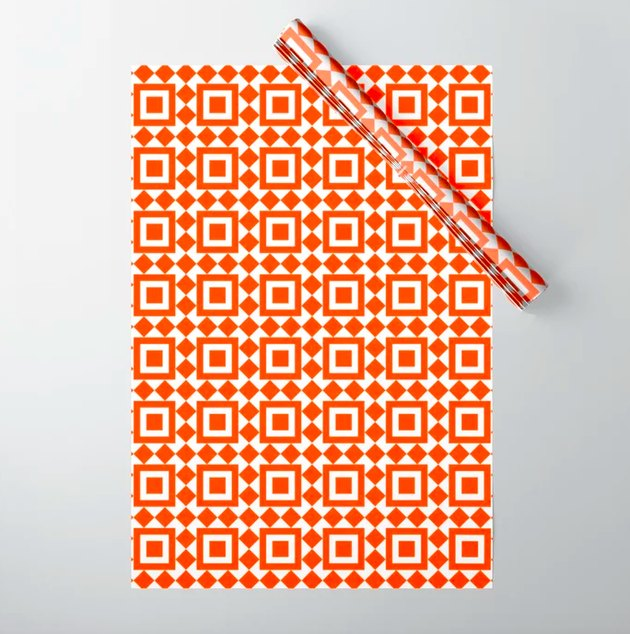 moroccan print wrapping paper
