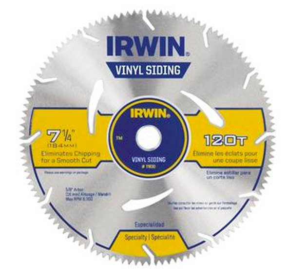 Vinyl cutting blade for circular saw.