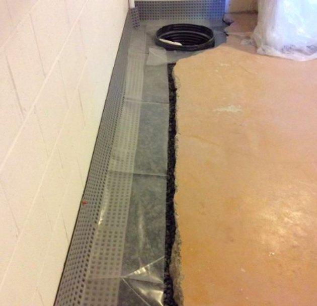 Basement French drain.