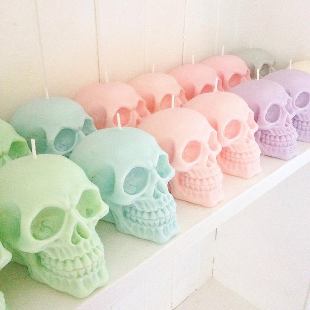 Ember Candle Co Pastel Skull Candles