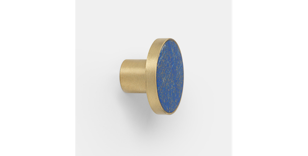 Ferm Living Blue Lapis and Brass Knob (Large), $65