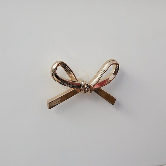 Crate and Kids Gold Bow Knob, $9