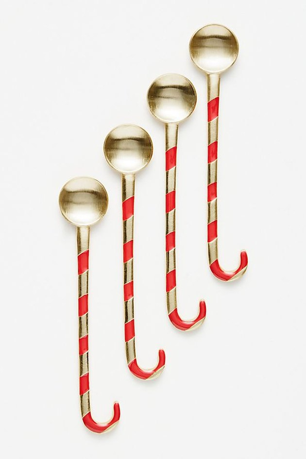 spoons with candy cane-shaped handles