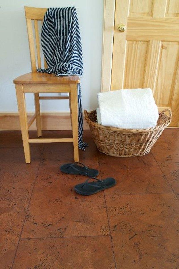 square cork floor tiles