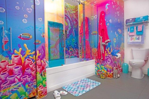 Lisa Frank bathroom