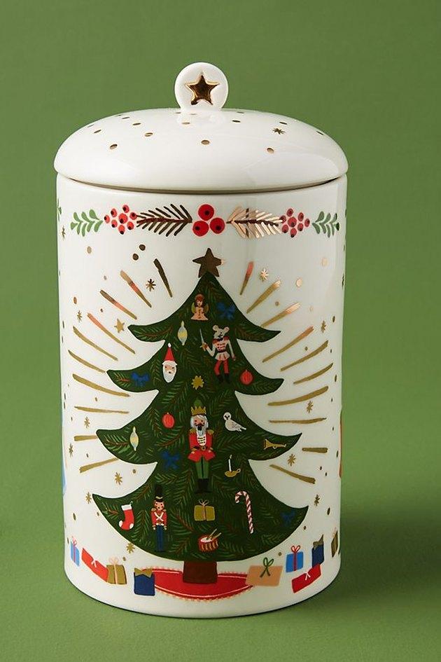 cookie jar with christmas tree