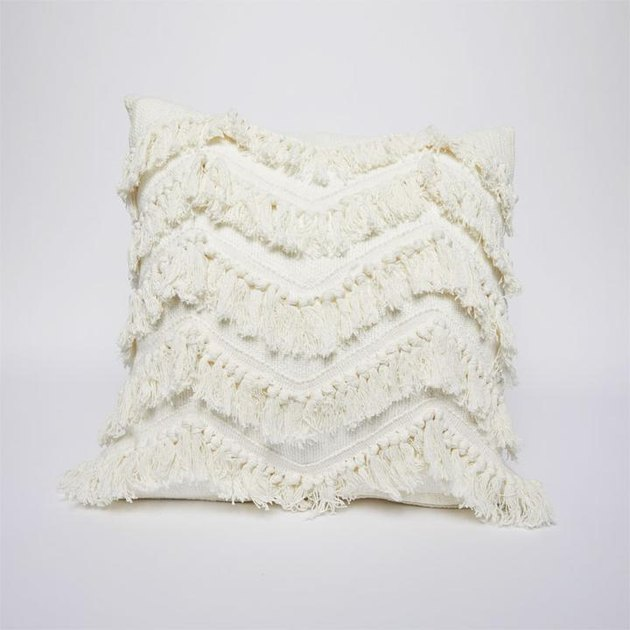 fringe pillow cover