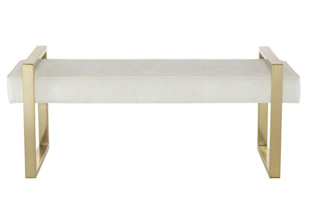 white and gold bench