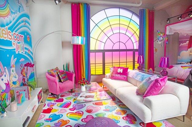 Lisa Frank living room