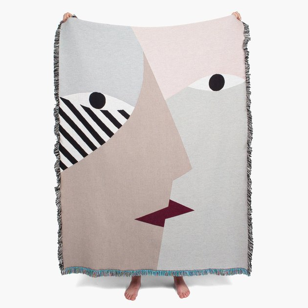 throw blanket with face design