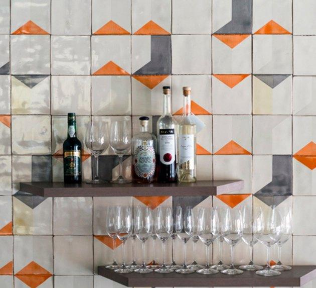 Smink Things Ceramic Tile Kitchen Backsplash in After Lowry