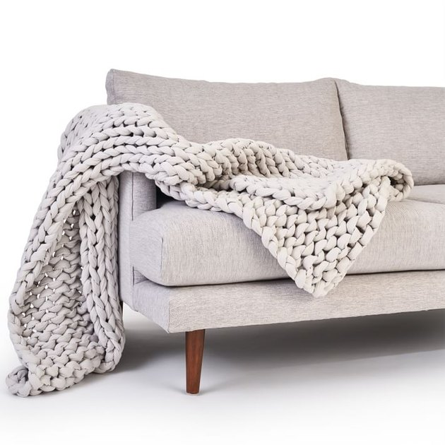 blanket on a couch