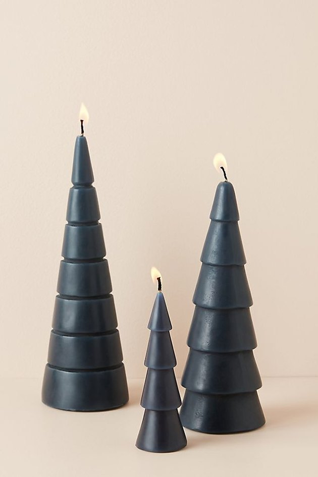 candles in the shape of trees