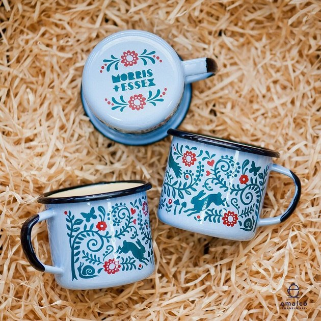 Morris and Essex Woodlands Enamel Mug