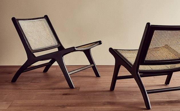 zara teak and rattan chair