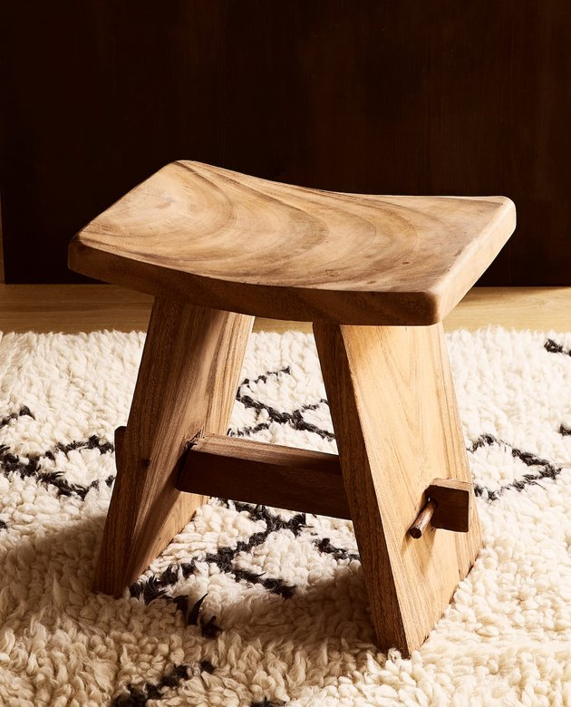 zara home wooden stool