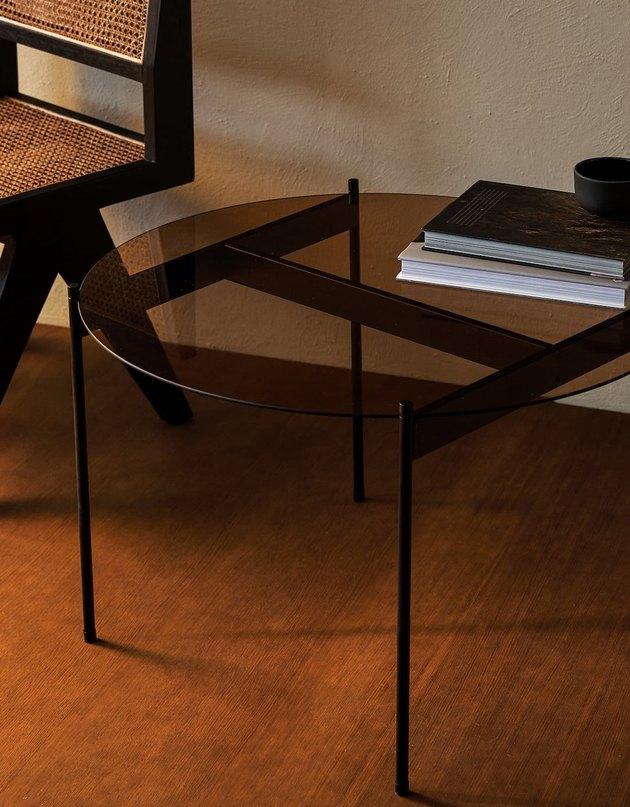 zara home glass table